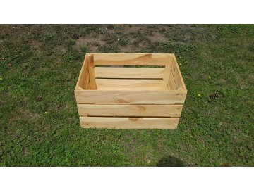 Bedýnka dřevěná přepravka | přírodní