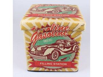 Skládací taburet Gasoline 32×32×32cm