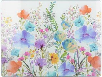 Skleněné prkénko Meadow Floral