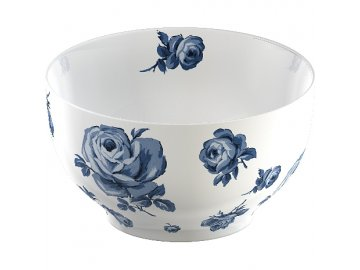 26344 porcelanova miska floral vintage indigo 16x9cm