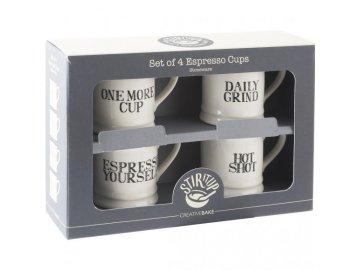 Hrnky na espresso | Stir It Up | 60ml | sada 4ks