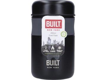 Dvouplášťová láhev Built černá malá