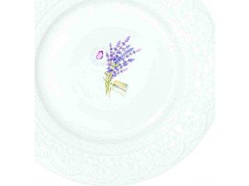 Porcelánové dezertní talířky Lavande
