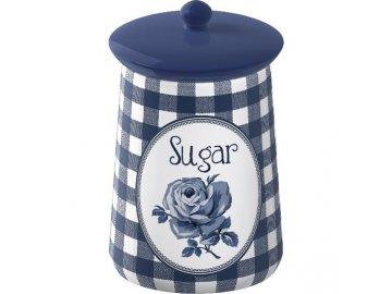 Dóza na cukr | Vintage Indigo | keramická | 9x16cm