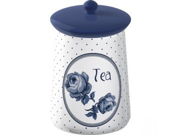 Dóza na čaj | Vintage Indigo | keramická | 9x16cm
