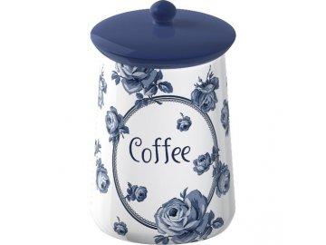 Dóza na kávu | Vintage Indigo | keramická | 9x16cm
