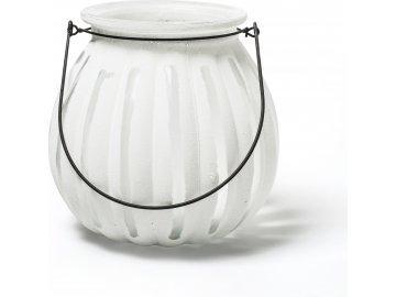 Lucerna skleněná | Pumpkin | bílá | 18x18x18cm