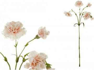 Minikarafiát, barva lososová. Květina umělá.