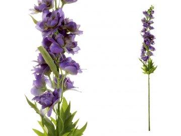 Ostrožka, barva modrá. Květina umělá.