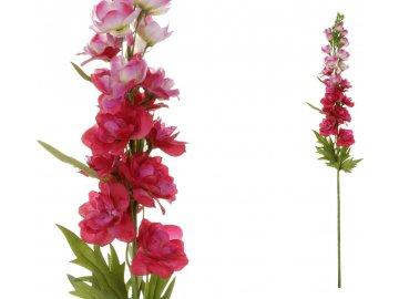 Ostrožka, barva tm.růžová. Květina umělá.