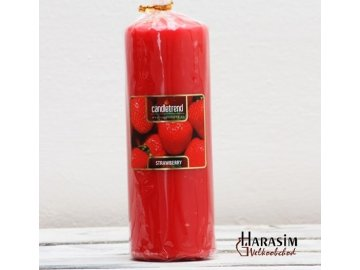 Svíčka válec Strawberry 16,5 cm