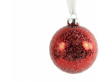 Červená vánoční baňka Mirte S