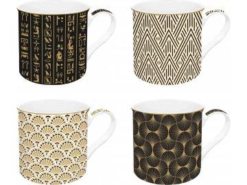 Sada porcelánových hrnků Egyptology