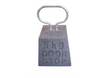 Zarážka na dveře kámen tmavě šedý 15x15x23,6cm