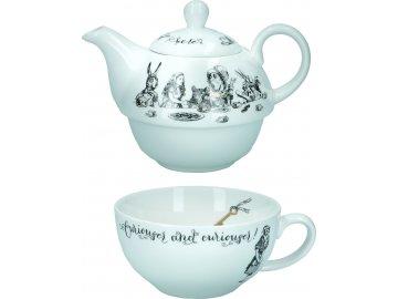 Porcelánový hrnek s konvičkou Alice In Wonderland