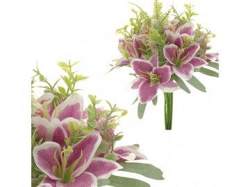 Puget lilií, barva fialová.
