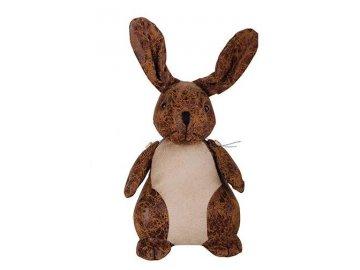 Zarážka na dveře kožená králík 18,2x15x18,2cm