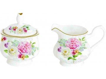 Porcelánová cukřenka a mléčenka Romantic Lace