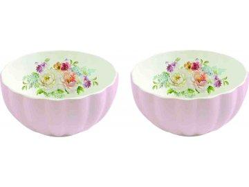 Porcelánové misky Jardin Royal Pink růžové