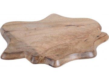 Dřevěný podnos Mango wood 52x43x2,5 cm
