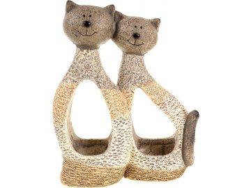 Kočky,dekorace z MgO keramiky s otvorem na květináč.
