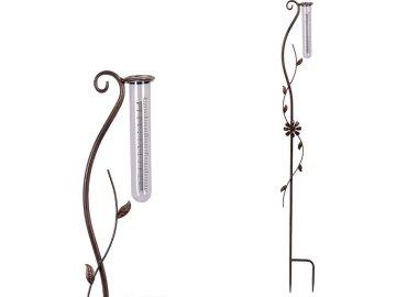 Srážkoměr, kovová dekorace na zapíchnutí  do zahrady