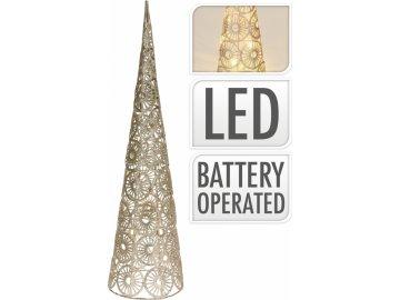 Kovový kužel champagne-zlatý 60 cm, 15 LED