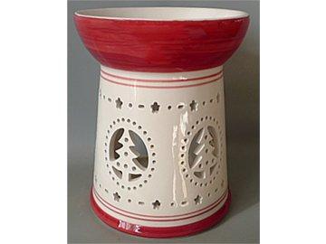 Aroma lampa, vánoční motiv stromečků.