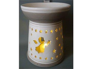 Aroma lampa, vánoční motiv andílků.