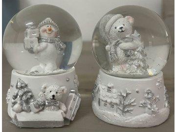 Sněžítko s vánočním motivem. Mix 2druhů v balení. Cena za 1ks.