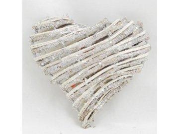 Srdce se třpytkami 15x15cm