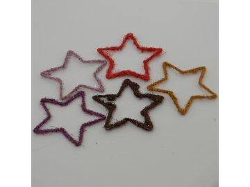 Hvězda filc cihlová 8cm