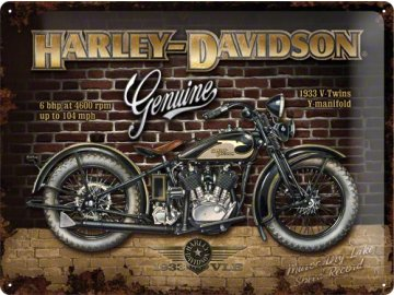 Plechová cedule Harley Davidson Genuine Moto