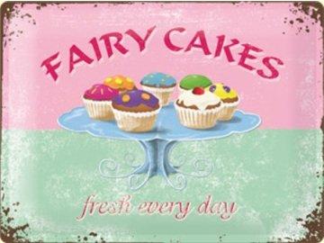 Plechová cedule Fairy Cakes