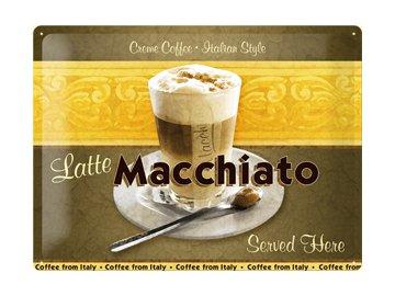 Plechová cedule Latte Macchiato