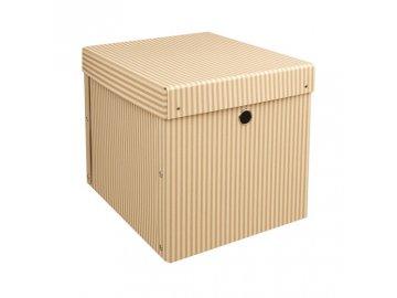 Úložná krabice s víkem | 32x38x30cm | sada 2ks