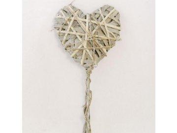 Srdce proutěné zápich 55x15x3cm