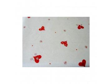 Celofán Zdobené srdce 20 100x70cm