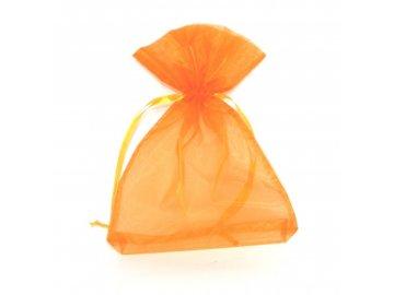 Sáček dárkový organza oranžový 20x28cm