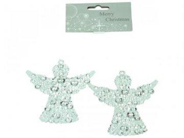 Ozdoba anděl set 2ks 9,5cm