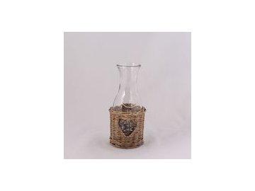 Skleněná karafa na víno 22cm