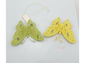 Dekorace plechový motýl
