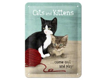 Plechová cedule Cats and Kittens
