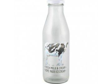Skleněná láhev na mléko Farmers Market 7x7x21cm