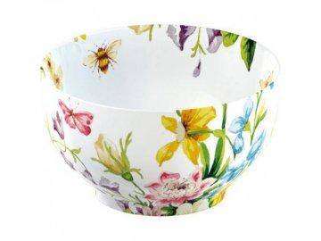 Miska ENGLISH GARDEN | porcelán | bílá | 15x15x9cm