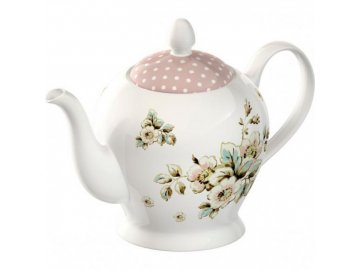 45023 konvicka cottage flower porcelan 19x14x16cm