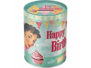 Kasička Happy Birthday
