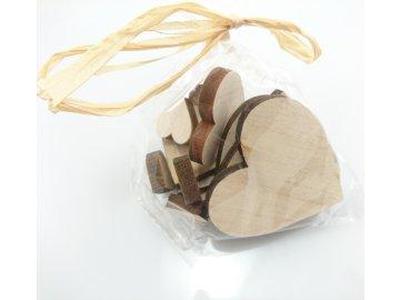 Dekorace srdce sáček