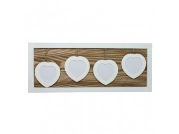 Fotorámeček srdce na 4 fotky 48x19x2cm