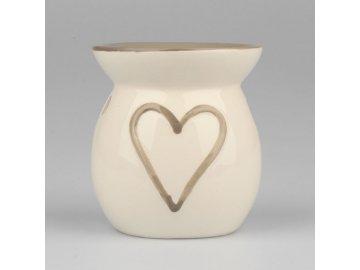 Aroma lampa srdce 10cm (Barva šedá)